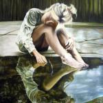 Narcisismo e malinconia -2009 - olio su tela - cm. 50 x 60 -