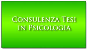 Consulenza tesi in psicologia